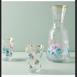 SOLD OUT ANTHROPOLOGIE FRENCH CARAFE/4 GLASSES NWT